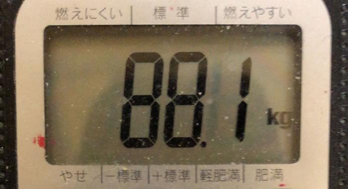 体重 88.1kg