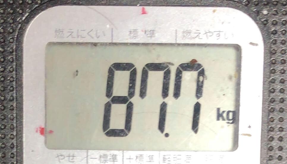 体重 87.7kg