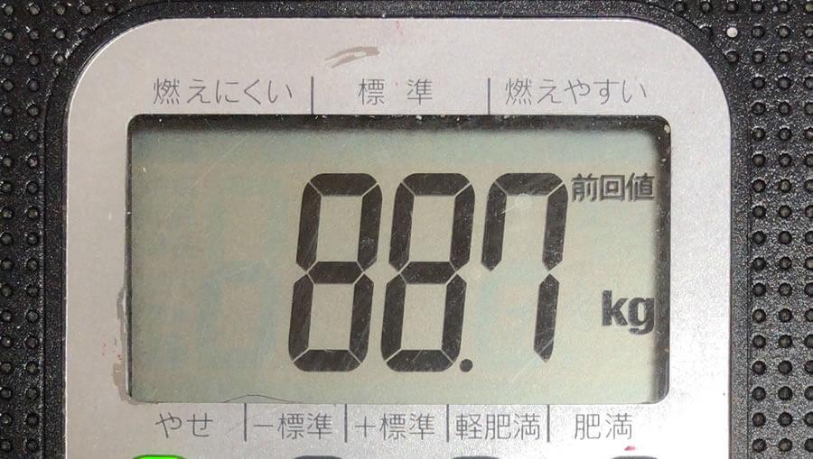 体重 88.7kg