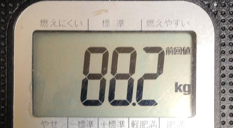 体重 88.2kg
